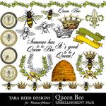 Queen Bee Embellishment Pack-$2.99 (Tara Reed Designs)