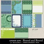 Round and Round Journal Cards-$1.40 (Lindsay Jane)
