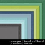 Round and Round Embossed Paper Pack-$1.99 (Lindsay Jane)