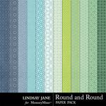 Round and Round Patterned Paper Pack-$1.40 (Lindsay Jane)