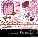 Chocolate Embellishment Pack 1-$3.50 (s.e.i)