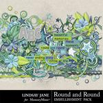 Round and Round Embellishment Pack-$2.45 (Lindsay Jane)