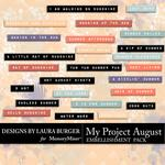 My Project August Labels Pack-$2.49 (Laura Burger)