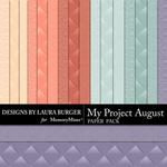 My Project August Embossed Paper Pack-$3.49 (Laura Burger)