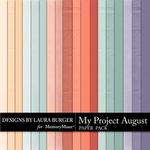 My Project August Solid Paper Pack-$3.49 (Laura Burger)