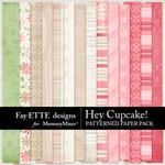 Hey Cupcake Patterned Paper Pack-$2.99 (Fayette Designs)