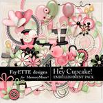 Hey Cupcake Embellishment Pack-$3.99 (Fayette Designs)