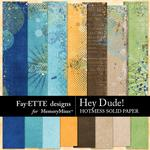 Hey Dude Hotmess Solid Paper Pack-$2.10 (Fayette Designs)