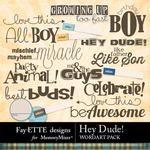 Hey Dude WordArt Pack-$1.99 (Fayette Designs)