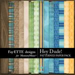 Hey Dude Patterned Paper Pack-$3.99 (Fayette Designs)