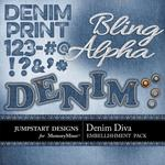 Denim Diva Alphabet Pack-$3.99 (Jumpstart Designs)