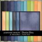 Denim Diva Denim Paper Pack-$3.49 (Jumpstart Designs)