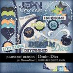 Denim Diva Add On Mini Pack-$2.45 (Jumpstart Designs)