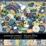 Denim Diva Combo Pack-$4.80 (Jumpstart Designs)