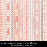 You Matter Paper Pack-$2.80 (Karen Lewis)