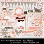 You Matter Embellishment Pack-$2.10 (Karen Lewis)