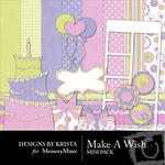 Make a Wish Mini Pack-$2.80 (Designs by Krista)