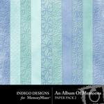 An Album of Memories Embossed Paper Pack-$2.10 (Indigo Designs)