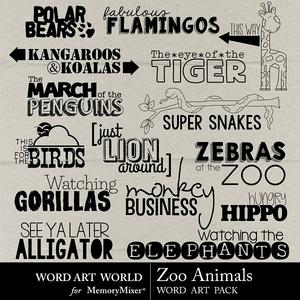 Zoo animals medium
