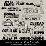 Zoo Animals WordArt-$2.49 (Word Art World)