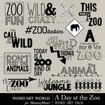 A Day at the Zoo WordArt-$1.75 (Word Art World)
