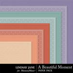 A Beautiful Moment Embossed Paper Pack-$1.99 (Lindsay Jane)