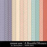 A Beautiful Moment Pattern Paper Pack-$1.99 (Lindsay Jane)