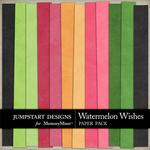 Watermelon Wishes Solid Paper Pack-$2.45 (Jumpstart Designs)