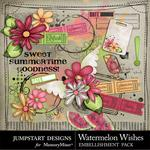 Watermelon Wishes Add On Embellishment Pack-$3.99 (Jumpstart Designs)