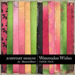 Watermelon Wishes Blended Paper Pack-$3.49 (Jumpstart Designs)
