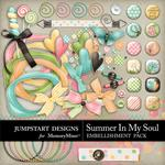 Summer in my Soul Add On Embellishment Pack-$3.99 (Jumpstart Designs)