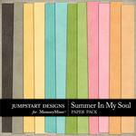 Summer in my Soul Solid Paper Pack-$3.49 (Jumpstart Designs)