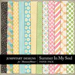 Summer in my Soul Patterned Paper Pack-$2.99 (Jumpstart Designs)