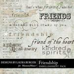 Friendship LB WordArt Pack-$2.49 (Laura Burger)