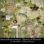 Harvest of Memories Cluster Frames Pack-$1.99 (MagicalReality Designs)