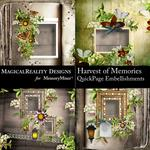 Harvest of Memories QuickPage Embellishments-$3.99 (MagicalReality Designs)