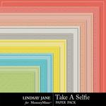 Take A Selfie Embossed Paper Pack-$1.99 (Lindsay Jane)