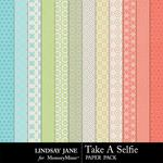 Take A Selfie Patterned Paper Pack-$1.99 (Lindsay Jane)