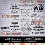 Leapin Lizards WordArt Pack-$2.99 (Fayette Designs)