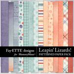 Leapin Lizards Patterned Paper Pack-$3.99 (Fayette Designs)