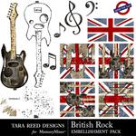 British Rock Embellishment Pack-$2.10 (Tara Reed Designs)