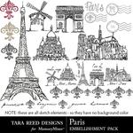 Paris Embellishment Pack-$2.10 (Tara Reed Designs)