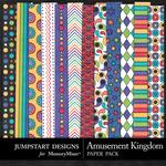 Amusement Kingdom Patterned Paper Pack-$3.49 (Jumpstart Designs)