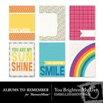 You Brighten My Day Journal Cards-$1.75 (Albums to Remember)