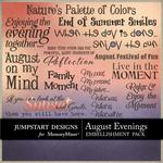 August Evenings WordArt Pack-$3.99 (Jumpstart Designs)