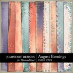 August Evenings Blended Paper Pack-$2.45 (Jumpstart Designs)