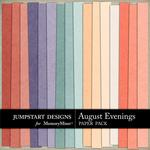 August Evenings Solid Paper Pack-$2.99 (Jumpstart Designs)