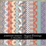 August Evenings Patterned Paper Pack-$3.49 (Jumpstart Designs)