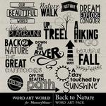 Back to Nature WordArt Pack-$2.10 (Word Art World)