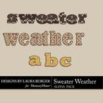 Sweater Weather Alphabet Pack-$2.49 (Laura Burger)